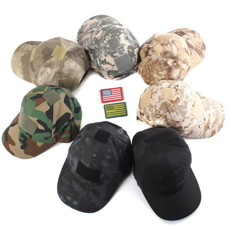 Universal Tactical Operator Hat With Front Top Velcro For Flag Patch Ball  Cap CS Sports Black a68c446b598