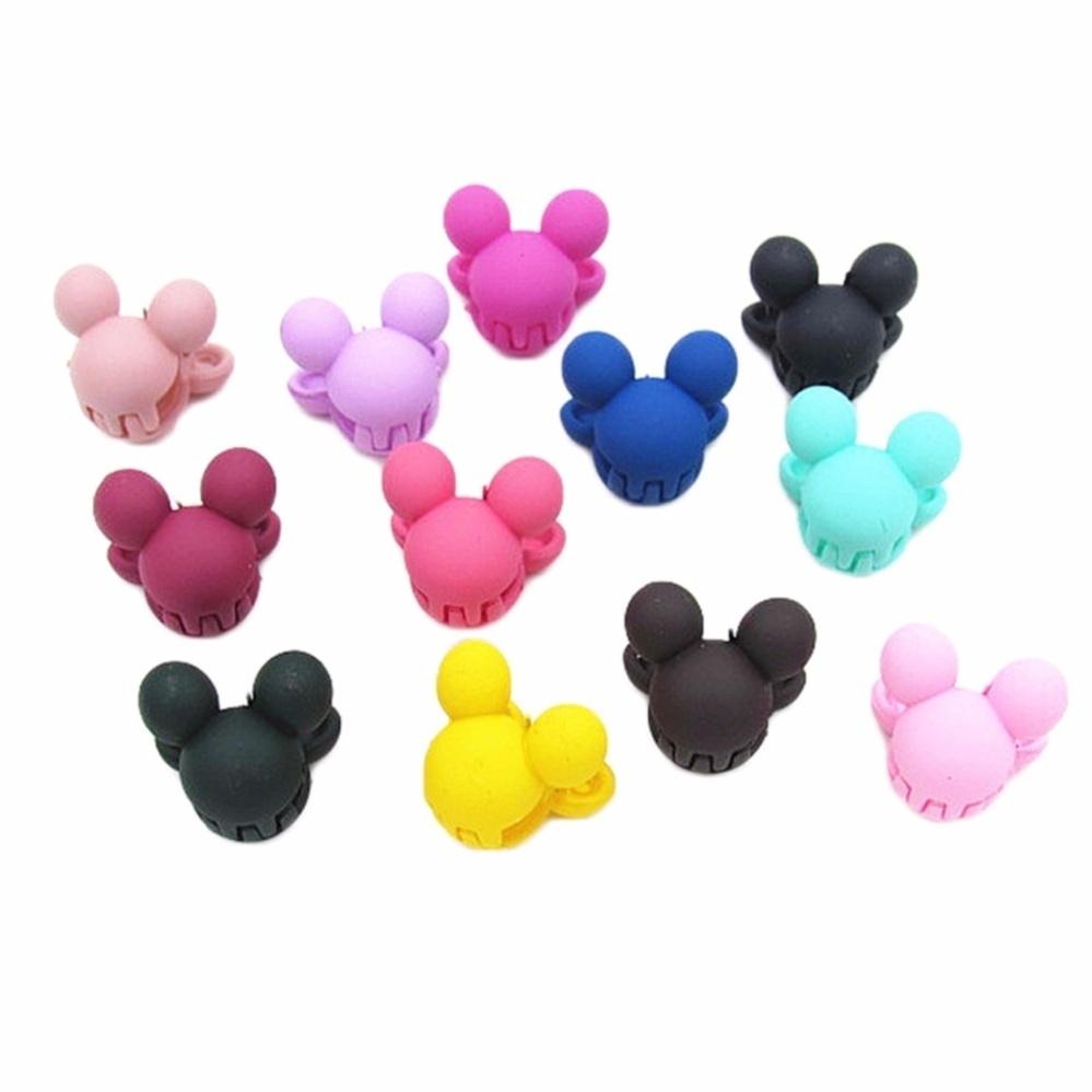 universal 1pcs color random children mickey mouse hair accessories