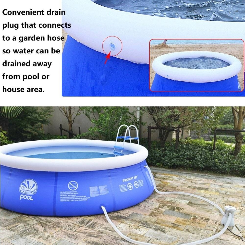 Universal outdoor inflatable swimming paddling pool garden for Garden pool accessories