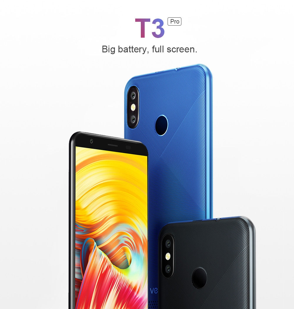 Vernee T3 Pro 4G Phablet 5.5 inch Android 8.1 MTK6739 Quad Core 3GB RAM 16GB ROM