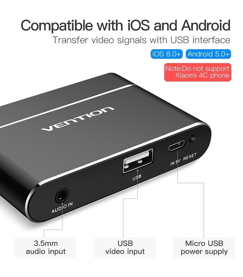 Generic Usb 3 In 1 Adapter Usb To Hdmi Vga Audio Video