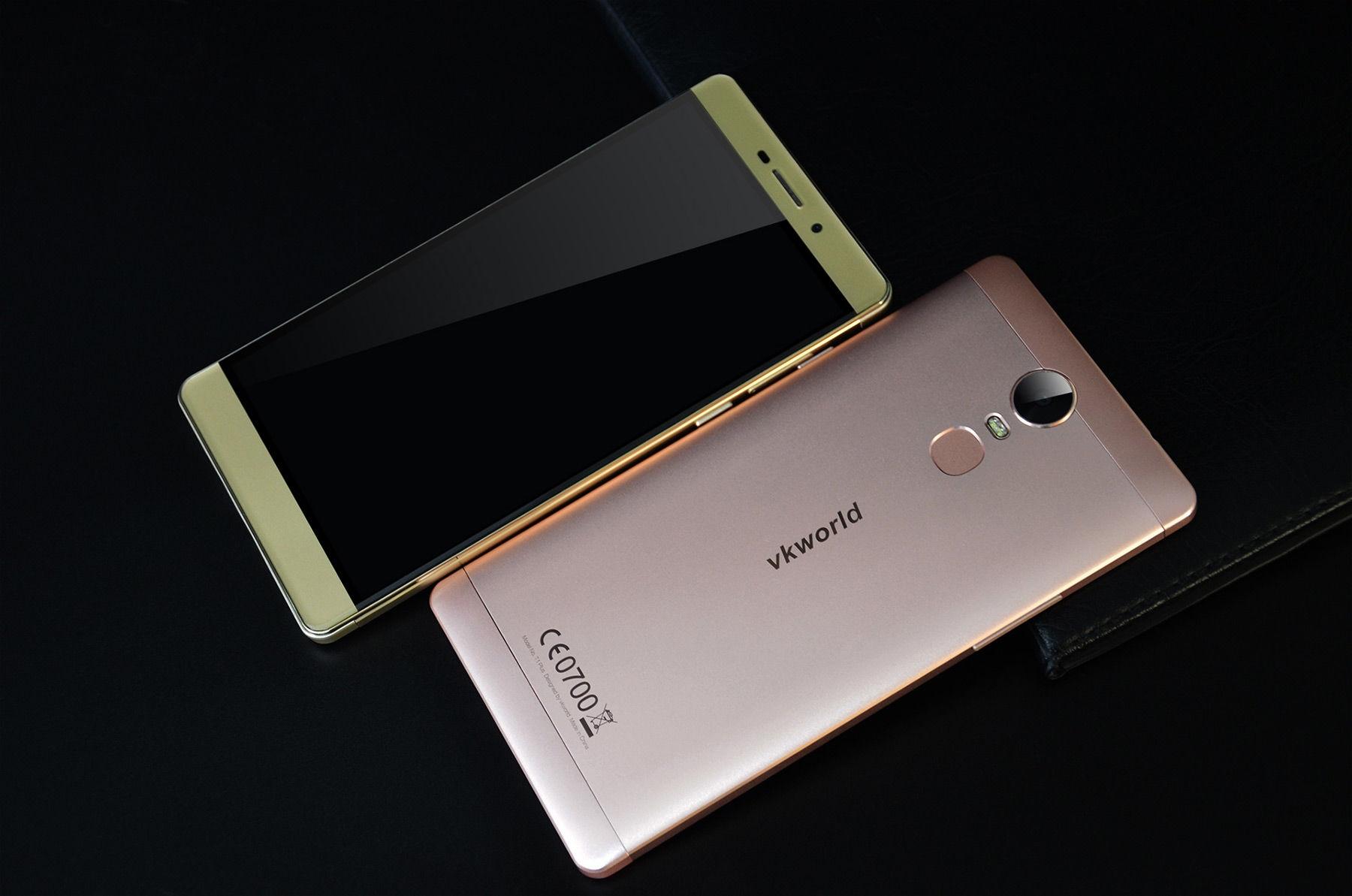 Vkworld T1 Plus Android 6.0 6.0 inch 4G Phablet MTK6735 Quad Core 1.0GHz 2GB RAM 16GB ROM 13.0MP Rear Camera Fingerprint Scanner GPS