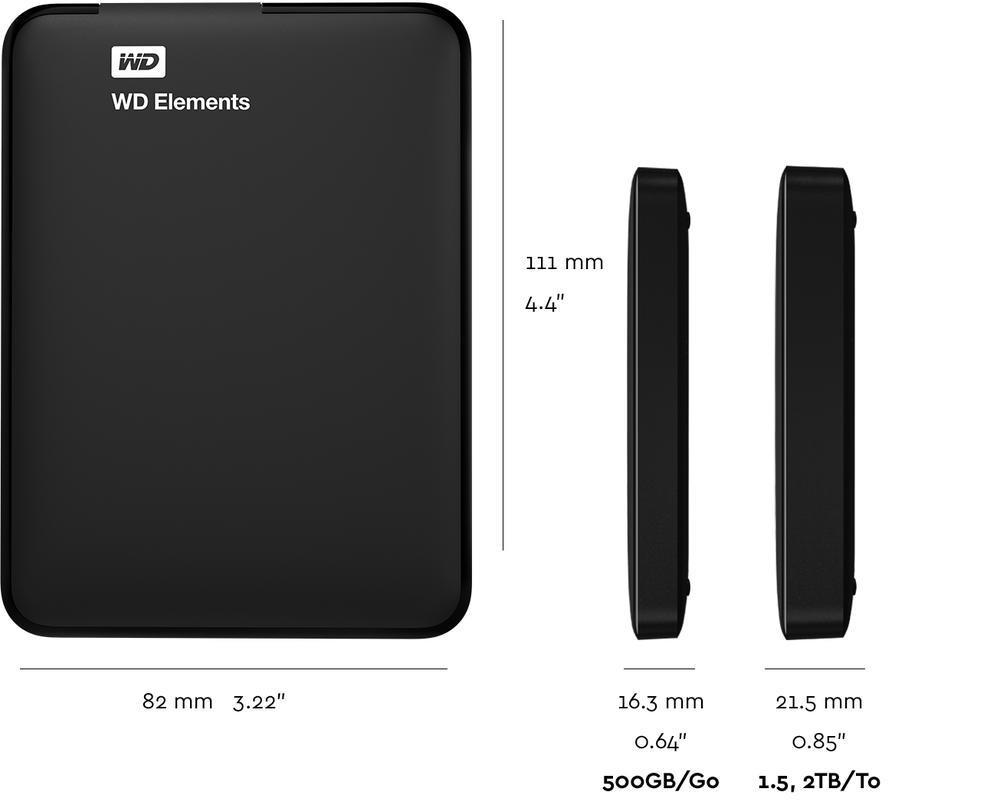 WD Elements Portable - Tech Specs