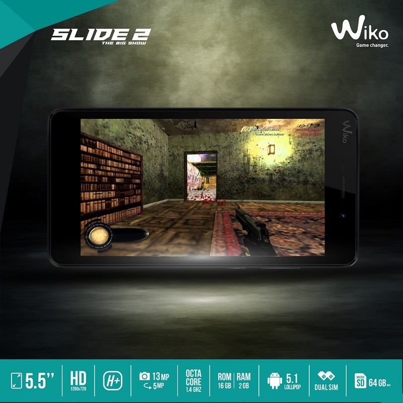 Wiko slide 2 with specs
