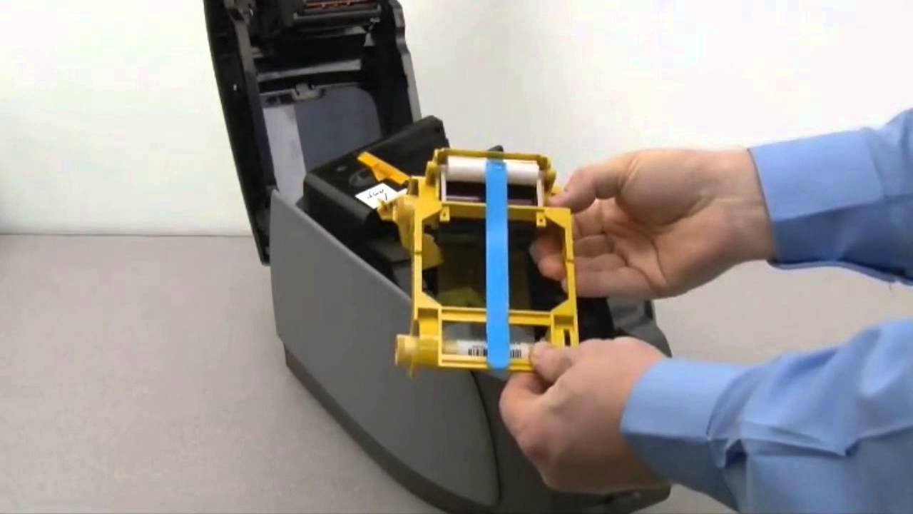 Zebra ZXP Series 3 - How to Load Ribbon