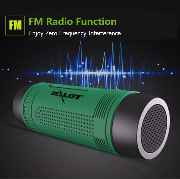 Zealot S1 FM radio Flashlight speaker