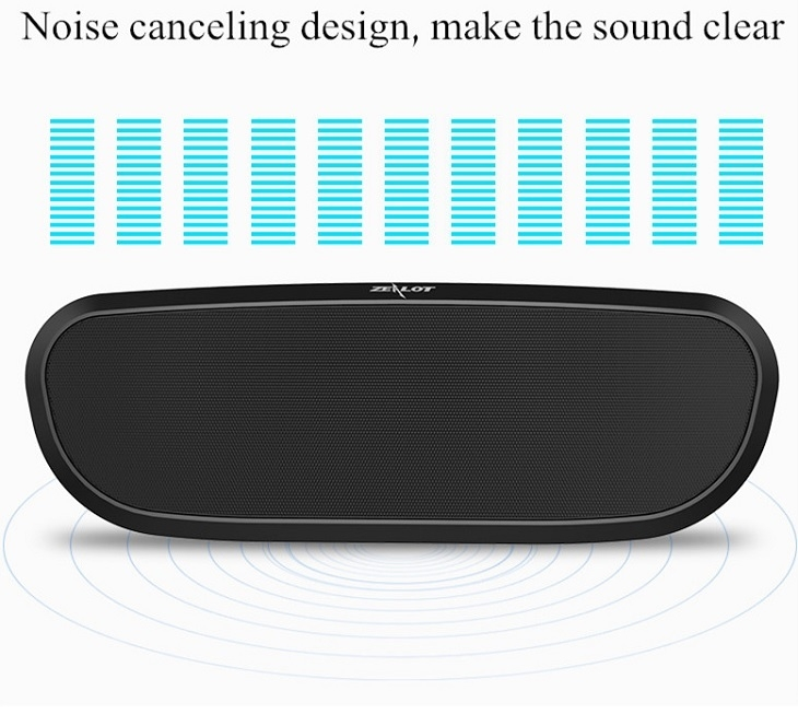Zealot S9 Multifunction Speaker noise cancelling design