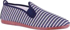 flossy striped shoe