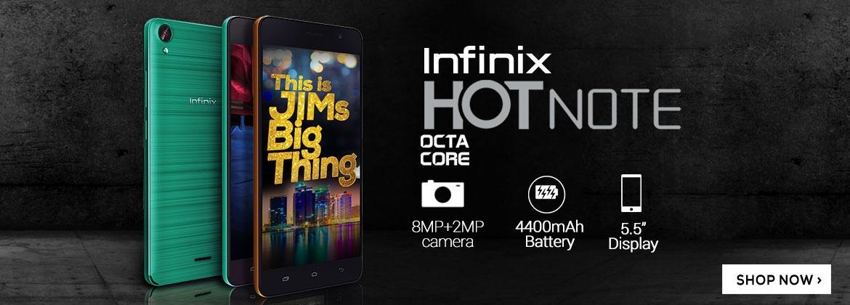infinix hot note on jumia