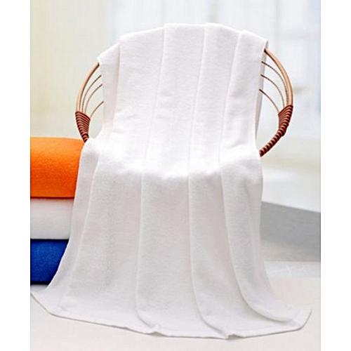 Quality Absorbent Plain Cotton Towel-White