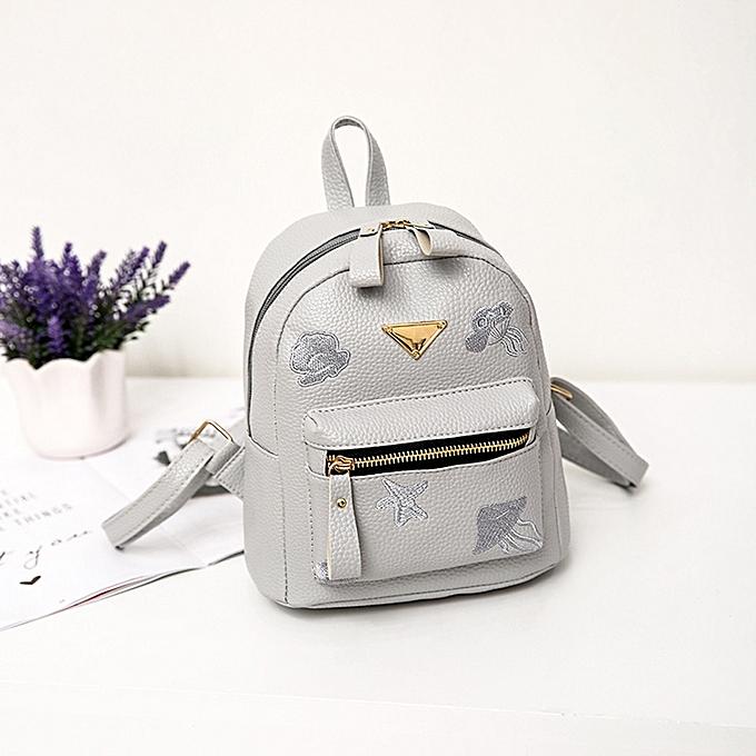 09c703574c7 Tcetoctre Women Girl School Bag Travel Small Backpack Satchel Shoulder  Rucksack Backpack -Gray