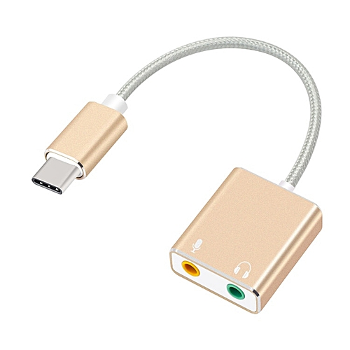 External USB Sound Card Type-C To Headphone 3D Stereo USB Audio Adapter New Drive Sound Card For Mac OS X Windows