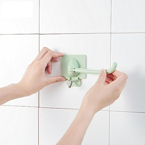 Non-trace Free Nail Hat Coat Clothes Towel Holder Kitchen Bath Wall Door Hanger Hooks - Blue