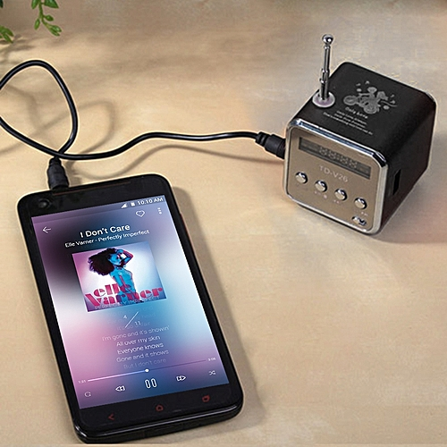 Portable TF USB Mini Stereo Speaker Music Player FM Radio PC MP3 /4
