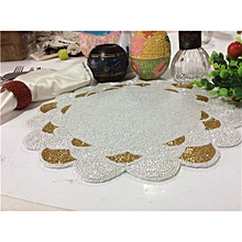 9b36a78baf7 White And Gold Handmade Beaded Placemats