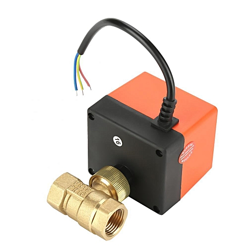Shanyu Motorized Brass Ball Valve 2-Way Electrical Valve 3-Wire 1-point Control G1/2 DN15 AC220V