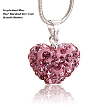 d528b04f5 11 Colors For Choose Heart Shape Pendant Chain Necklace Jewelry Women  Fashion Rhinestones Crystal Silver HOT