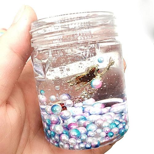 Slime Mermaid Crystal Mud Symphony Pearl Transparent Mud - With Mermaid 80ml Transparent