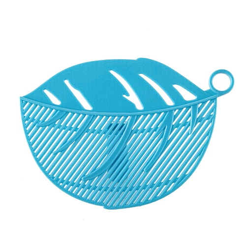1PC Durable Clean Leaf Shape Rice Wash Sieve Cleaning Gadget Kitchen Clips Blue