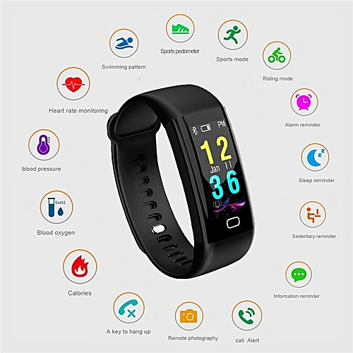 CALEX Fitness Tracker, Smart Watch 4 Sports Mode, Heart Rate Monitor IP68  Waterproof Activity Tracker, Sleep & Blood Pressure Monitor, Calorie/Step