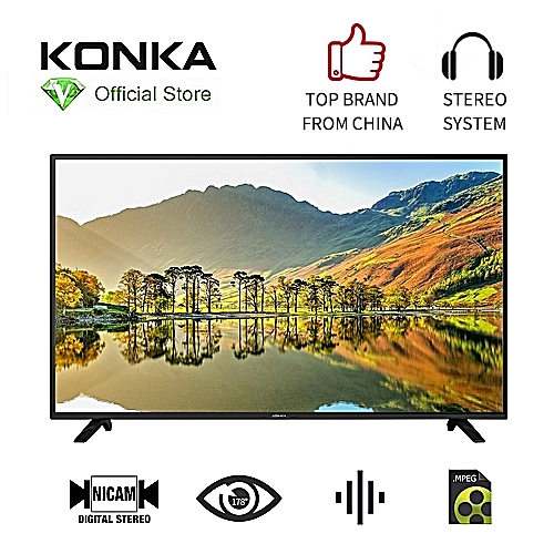 43 Inch Digital LED TV - HDMI(3) - USB(2) - Black