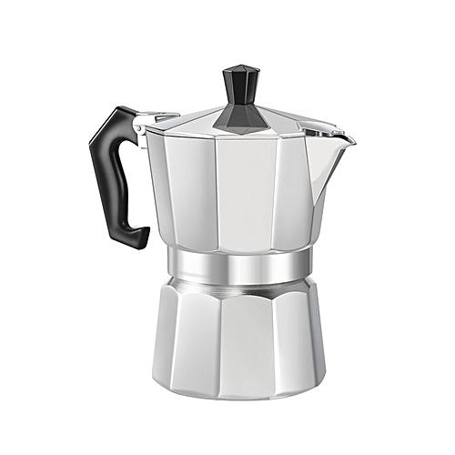 Aluminum 8-Angle Moka Espresso Cup Continental Moka Percolator Pot 3cup/6cup