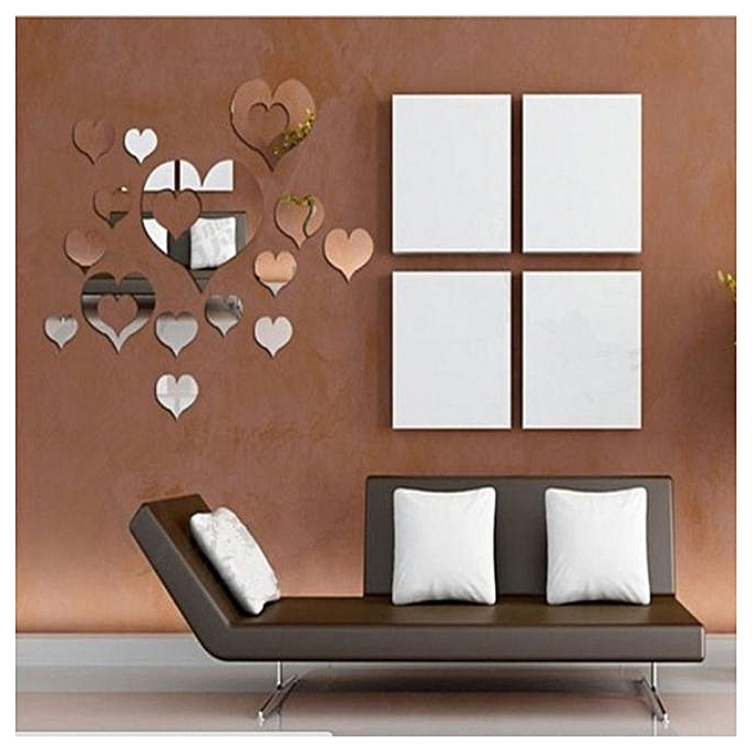 Elegant Home Decoration 3D Removable Heart Art Decor Wall Stickers Living Room