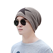 81d69b464cdadf Men Warm Baggy Weave Crochet Winter Wool Knit Ski Beanie Caps Hat