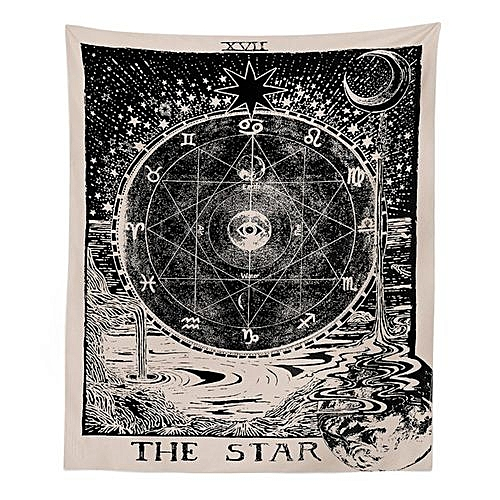 Indian Mandala Tapestry Wall Hanging Mysterious Boho Wall Tapestry Home Decor [The Star&The Sun&The Moon]