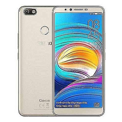 Camon X (CA7) 6-Inch HD (3GB, 32GB ROM) Android 8.1 Oreo, 16MP + 20MP Dual SIM 4G Fingerprint Smartphone - Champagne Gold