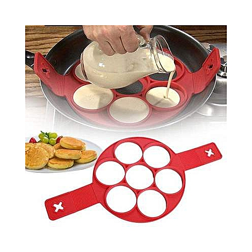 1PC 7 Holes Pancake Silicone Mold Circular Fried Eggs Forms