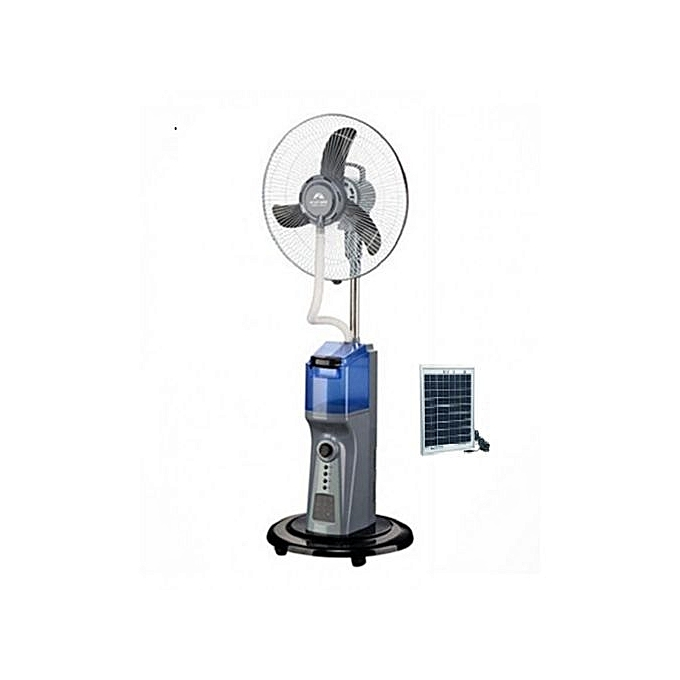 andrakk rechargeable mist fan with 18v5w solar panel