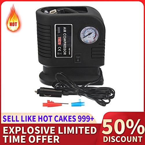 Black 300PSI 12V Portable Mini Air Compressor Auto Car Electric Tire Air Inflator Pump