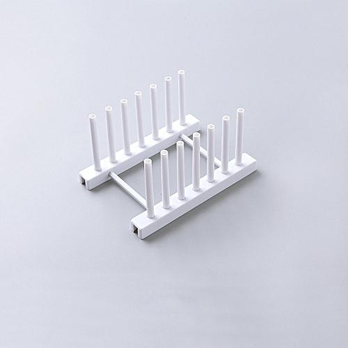 Kitchen Plastic Pot Lid Shelf Cooking Storage Kitchen Decor Tool Stand Holder