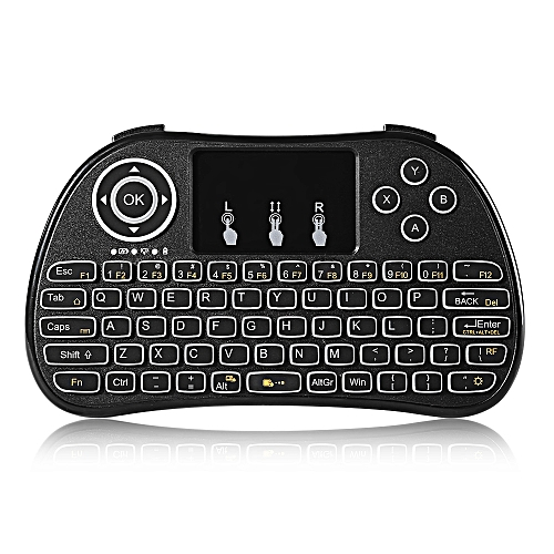 P9 Wireless Mini Keyboard Backlight Function With Touchpad-Black
