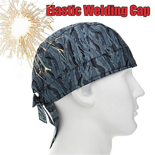 2PCS Universal Welding Welder Flame Retardant Hat Cap Scarf Helmet Head Protection