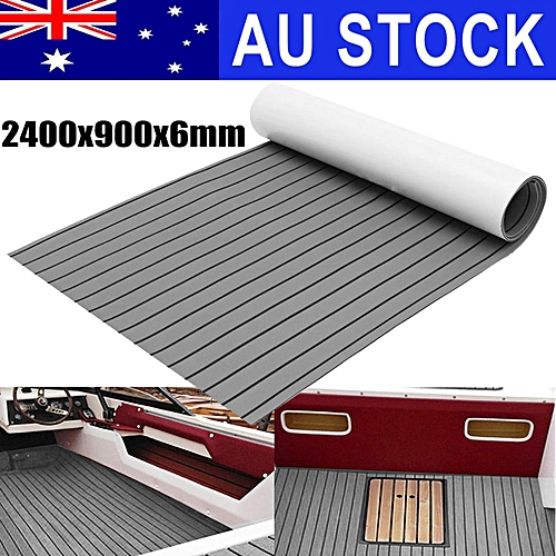 2400x900x6mm Marine Flooring Faux Teak EVA Foam Boat Decking Sheet Gray