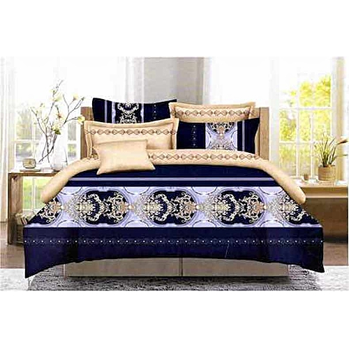 DARK BLUE Duvet Quilt With Matching Bedspread And Pillow Cases