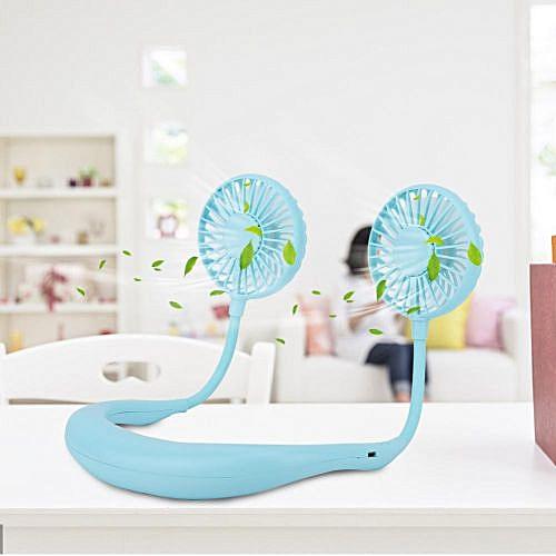 Portable Handsfree Neck Hanging Fan USB Charging 2000mAh