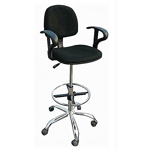 Cashier's Fabric High Office Chair