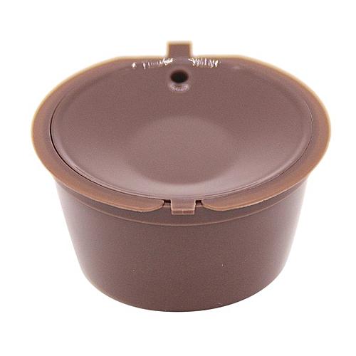 Coffee Filter Baskets Reusable Capsule Plastic Espresso Cup Brown