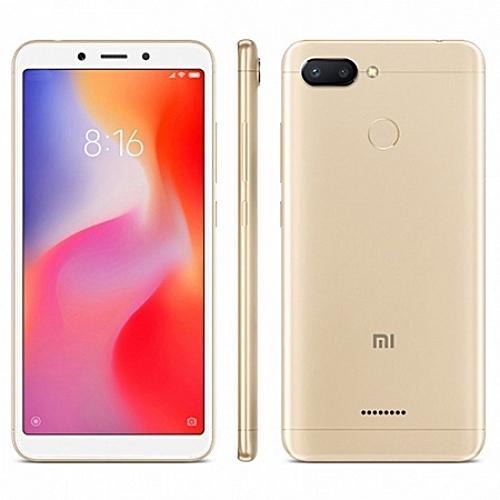 Mi Redmi 6 4g Smartphone 5.45 Inch Android 8.1 4gb ram 64gb rom 12.0mp 5.0mp Rear Camera-gold