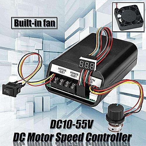 DC Motor Speed Controller DC10-55V Support Forward Reverse Rotation Built-in Fan