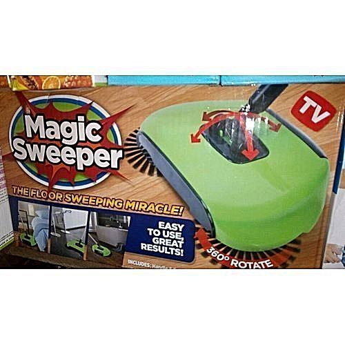 Magic Sweeper Dual Rotor Spin Broom Sweeper
