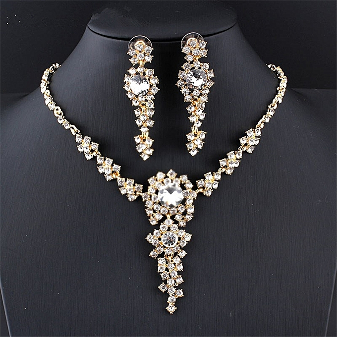 Fashion Wedding Jewelry Sets Bridal Necklace Set Long