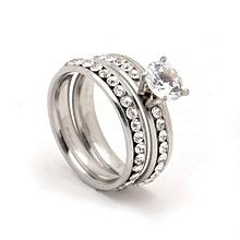 White Crystal  Wedding  Ring Set for sale  Nigeria