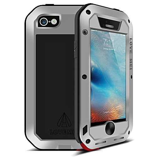 IPhone SE Waterproof Case, Shockproof Snowproof Dustproof Durable Aluminum Metal Heavy Duty Full-body Protection Case Cover For IPhone SE / IPhone 5 5S