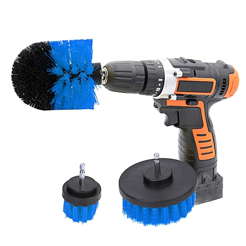 3PCS Power Scrubber Brush Electric Drill Cleaning Kit For Bathroom Surfaces