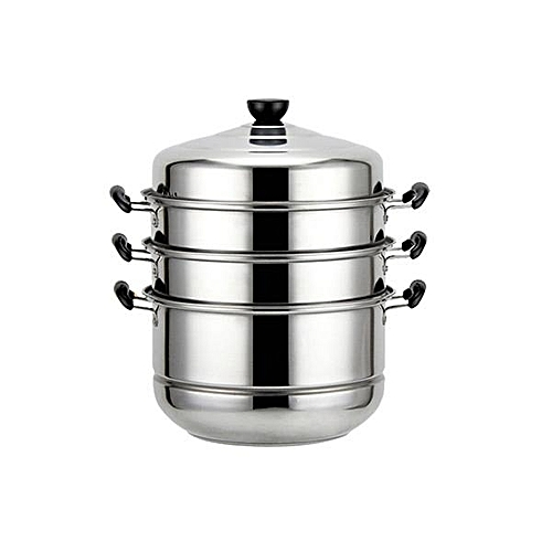 Stainless Steel 4 Tier Steamer Cooking Food Stock Steam Pot Cookware 32cm/12.6''