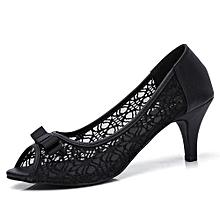 0a36cf8b509 Women  039 s Shoe Open Toe High Heel Enamel Basic Pump-Black